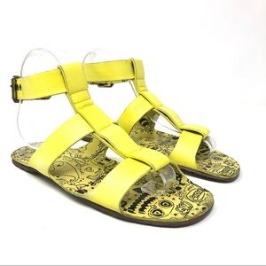 Marc By Marc Jacobs Yellow Leather Sandals 37.5/7